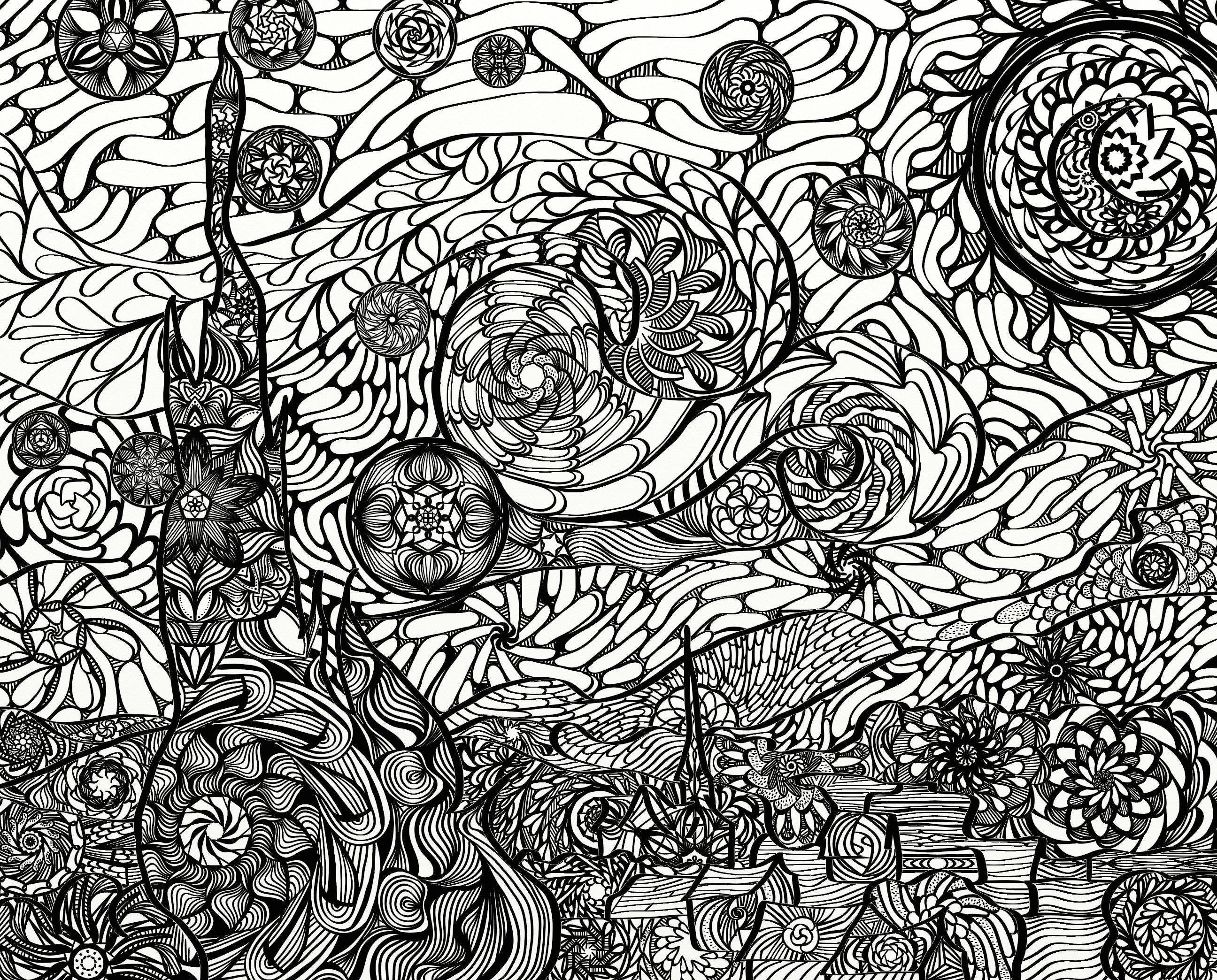 Starry Night van Gogh Mandala Adult