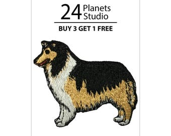 Collie Iron on Patch by 24PlanetsStudio Cute Applique Cute Patch dog patch dogs