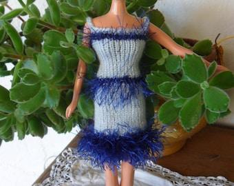 short dress frou frou wool ruffle