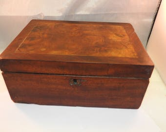 antique wooden work box
