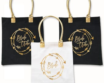 Bride Tribe Tote Bag - Bachelorette Party, Bridesmaid, Bridal Party Gift