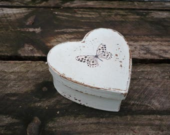 Small heart shaped gift box-keepsake box-trinket box-ring box