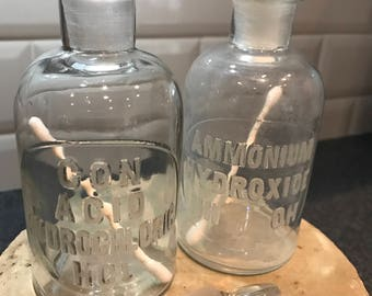 Vintage Chemical Bottles