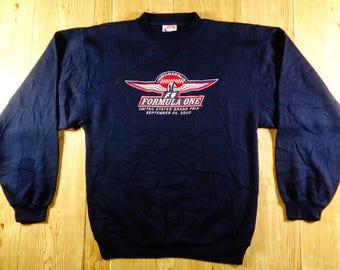 ON SALE! Vintage Formula One United States Grandprix Indianapolis Sweatshirt