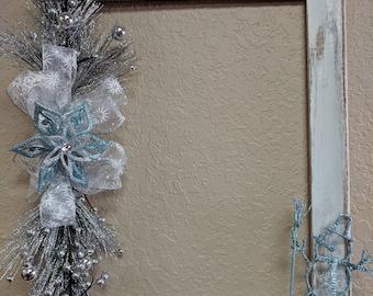 Snowman Frame Wreath