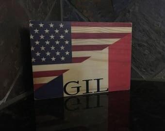 US/France Flag 5x7