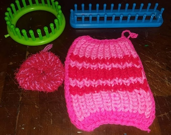 Matching pot holder and dish scrubby