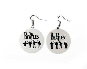 The Beatles logo earrings