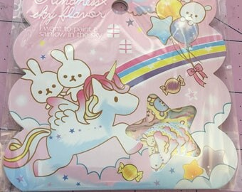 One sack brand new cute Kindness Sky Flavor 50 sticker flakes  for scrapbooks, planners or journals Kawaii Japan