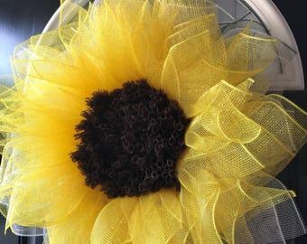 Sunflower, Flower wreath, wreaths for front door, sunflower wreath, whimsicle door wreath, spring wreath, best door wreath, door wreaths