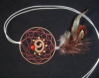 cinnamon dream catcher necklace