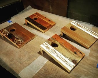 Reclaimed Wood Coinhole Game