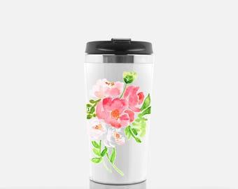 Floral Travel Tumbler