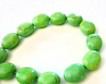 5 pearls stone howlite Green 2.6 cm