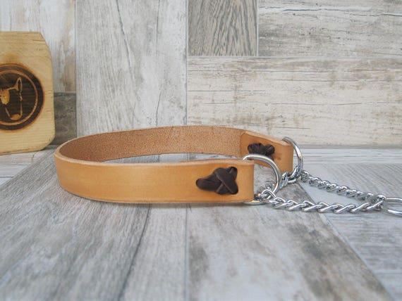 Martingale Dog Collar, No Pull Dog Collar, Chain Dog Collar, Handmade Custom Dog collar, Half Choke Dog Collar, Strong Durable Dog Collar