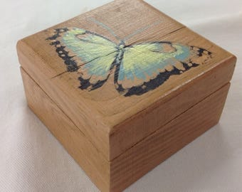 Mini butterfly jewellery trinket box
