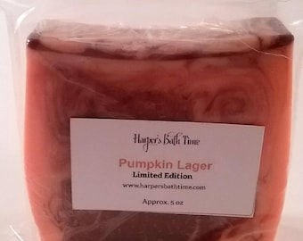 Pumpkin Soap, pumpkin lager, detergent free soap, fall soap, holiday soap