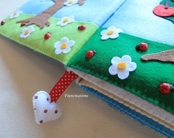 Quiet book - Baby toy - Toy - Book - Toy book - Busy book - Didactic book - Colored book - Felt book