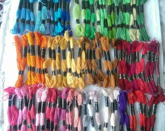 A Selection of Needle Work Embroidery Floss 8 Meters (6154)
