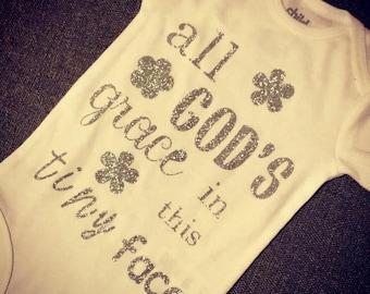 All GOD's Grace onesie