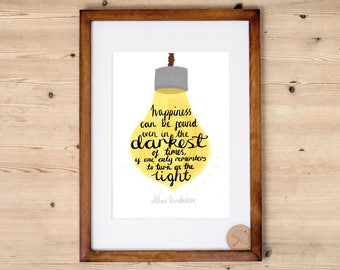 Harry Potter Quote Print | Light Can Be Found | Dumbledore Print | Inspirational Quote Print | Happiness Quote | Harry Potter Art | Decor |
