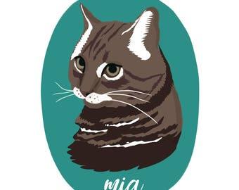 Custom Pet Illustration, Pet Drawing, Pet Portrait, Custom Pet Drawing, Pet Gift, Cat and Dog Portrait, Custom Gift, Dog Portrait