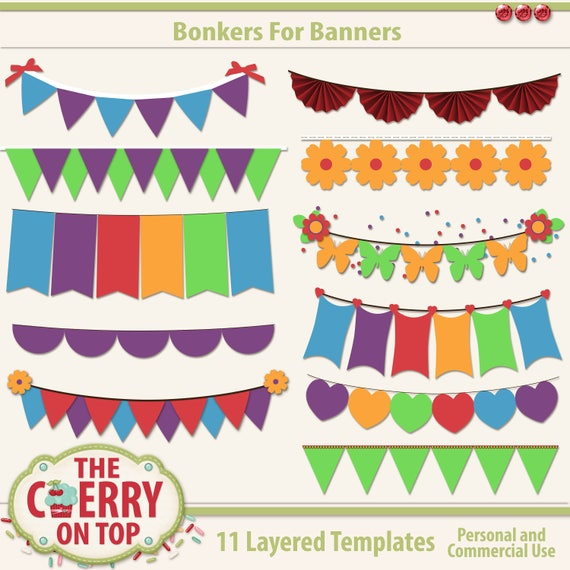 Bonkers For Banners Digital Templates