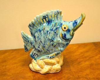 Beautiful Ceramic Fish Statue