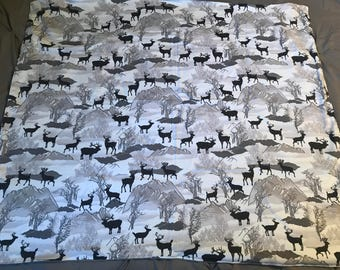 Woodland deer themed baby blanket