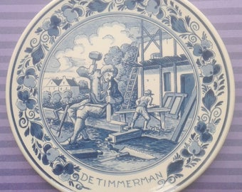 Blue Delft, Royal Goedewaagen, ornamental board, Carpenter
