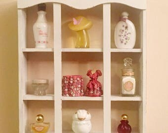 ON SALE! Display Shelf With Vintage Avon Collectibles