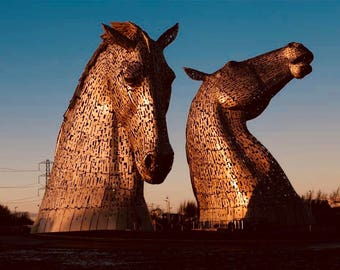 Colourful Kelpies. Falkirk