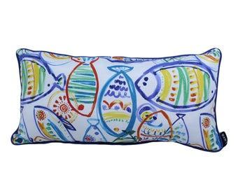 Caribbean Fish Lumbar Pillow