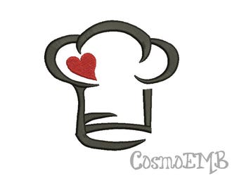 7 Size Chef Hat Embroidery design Machine Embroidery - Digital INSTANT DOWNLOAD