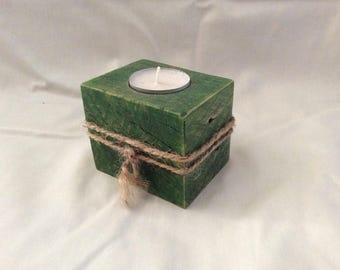 Candle holder Wood Green bladder
