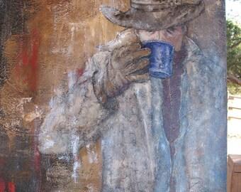 Coffee Break original art by C. Gaer barlow