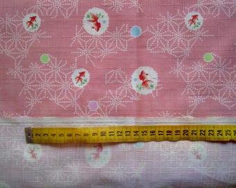 Japanese pink fish fabric
