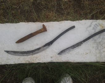 Hand forged knife set