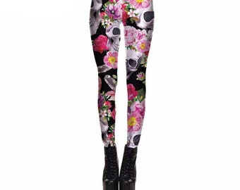 Jasmine skull leggings