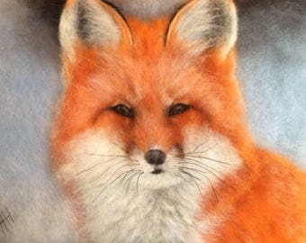 Fox fur Painting