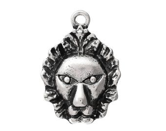 30 Trailers Lion, 24 x 17 mm, Silver