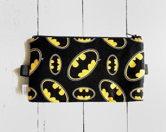Batman Pencil Case with Elastic | Pencil Pouch | Batman gift | Boy's Attachable Pencil Case