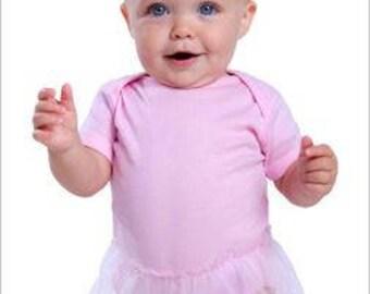 Infant Tutu Baby Rib Bodysuit w/ Custom Print!