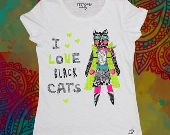 BLACK CAT  - t-shirt donna