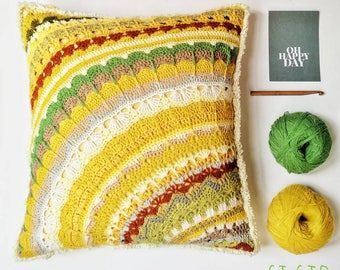 Oh Happy Days...70ties inspired Si Sjo retrostyle Cushion