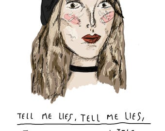 A5 Stevie Nicks Print with Quote