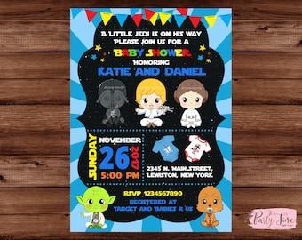 Star Wars Baby Shower Invitation   Star Wars Baby Shower   Baby Shower  Invitation   Star