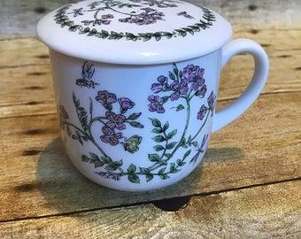 VINTAGE Floral Print Sugar Creamer Trinket Coffee Tea Mug Cup
