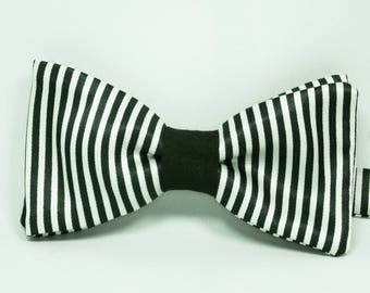 "CLEARANCE SALE! Bow tie black and white ""Bowteljuice"""