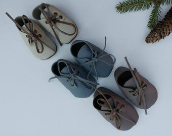 Leather Baby Oxfords crib shoes available from 1-10 baby sizes